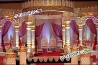 Indian Wedding Royal Fiber Mandap Set