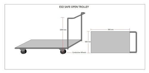 ESD SAFE OPEN TROLLEY