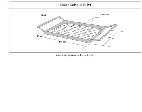 Trolley Shelf