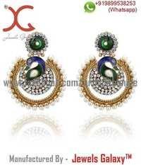 Jewels Galaxy Australian Diamond Studded Mayur Earrings