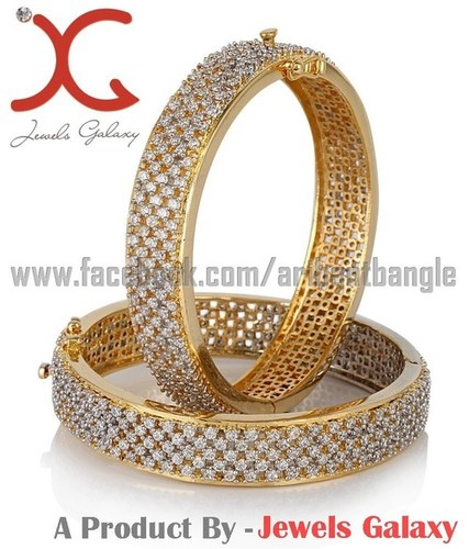 Jewels Galaxy American Diamond Hand Crafted Bangles