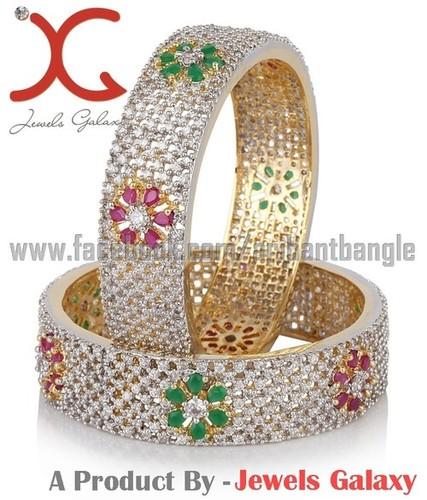 Jewels Galaxy CZ Studded Elegant Bangles