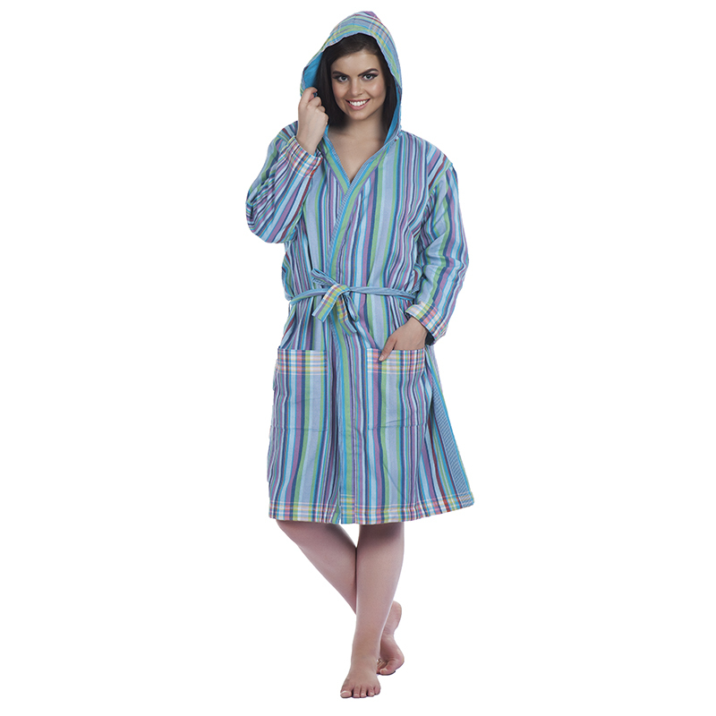 Kikoy Hooded Toweling Gown
