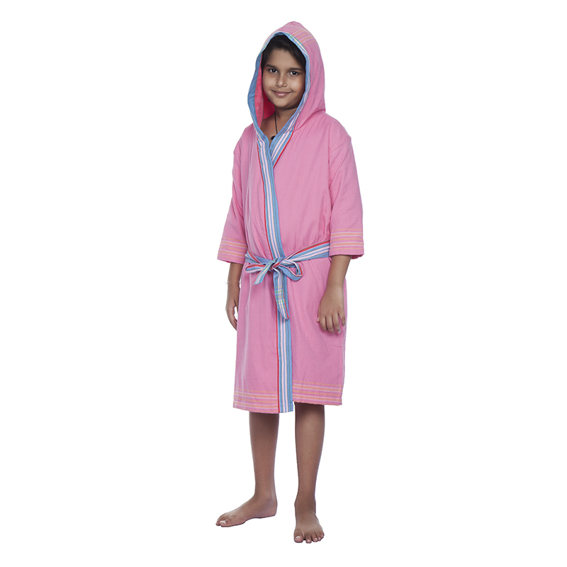 Kids Hooded Toweling Gown