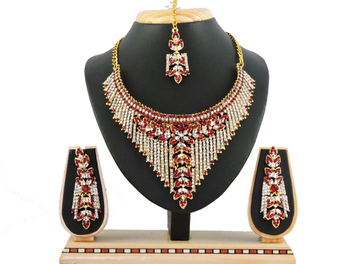 Designer Maroon Necklace