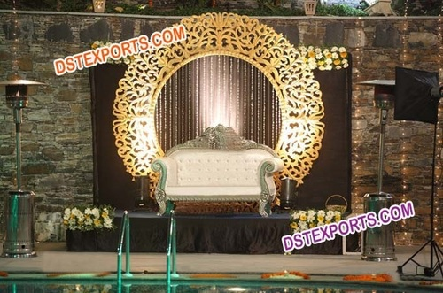 Wedding Stage Fiber Round Backdrop Frames