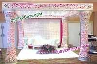 Wedding Fiber Damroo Mandap with Led Lights