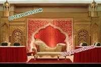 Indian Wedding Rajwada Style Stage Decorations