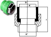 SFMC Female Threaded Socket (Hexagonal) (PN 20)