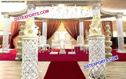 Latest Style Wedding Crystal Mandap Stage Decors