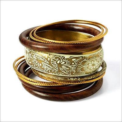 Metallic Brass Bangles