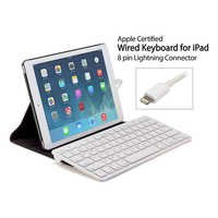 MFi Certified Plug-n-Go Wired Keyboard with 8 pin Laptop for iPad air