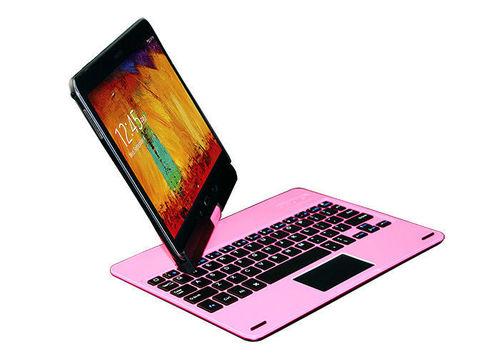 Waterproof ABS Bluetooth Slim Keyboard 360 Rotating for Samsung