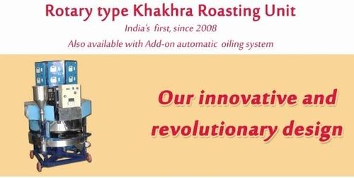 Rotary Type Khakhra Roasting Unit