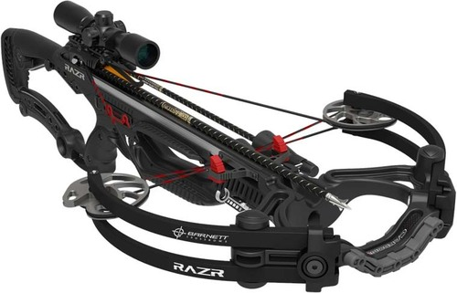 Barnett Razr Carbon Reverse Compound Bow 400 FPS Carbon Arrows
