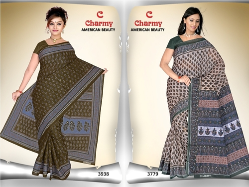 Printed Cotton Sarees Jetpur