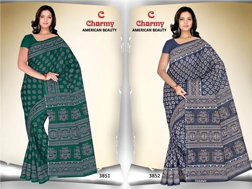 Printed Cotton Sarees Jetpur