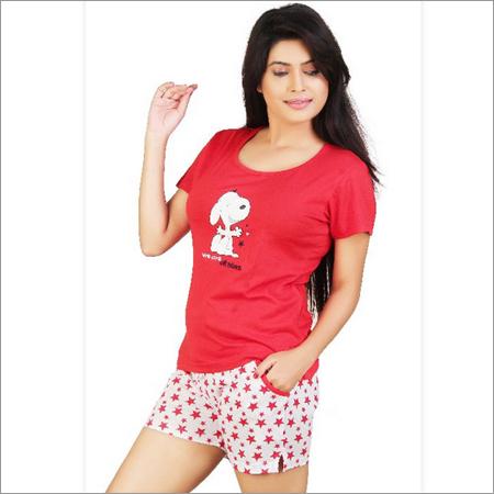 Ladies Red Night Wear Top