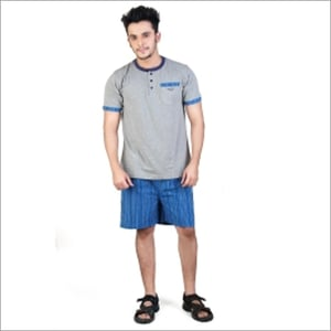 Mens Traditional Night Set Top