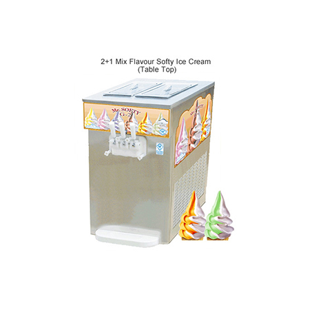 2 + 1 Mix Softy Ice Cream Machine - Pump Series