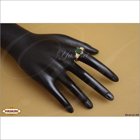 Fancy Emrold Green cz Ring