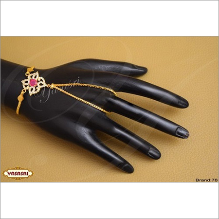 Finger Handset braslet with Ladies Ring