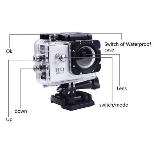New Full HD 1080P 12MP Car Cam Sports DV Action Waterproof Camera