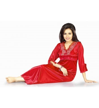 Hot N Sweet SATIN RED One Piece NIGHTY