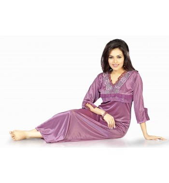 Hot N Sweet Satin Wine One Piece Nighty.