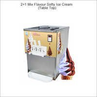 2 + 1 Gravity Feed Softy Ice Cream - counter top