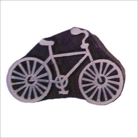 Decorative Wooden Printing stamps cycle design for print on fabric (5 pcs pack)