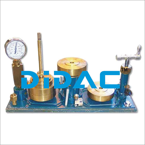Dead Weight Pressure Gauge Calibrator Tester