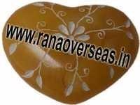 Marble  Soap Stone heart  4
