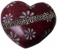 Marble  Soap Stone heart  7