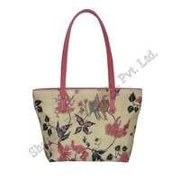 Hand-Painted Leather Tote