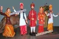 Fiber Punjabi Cultural Statues Figures