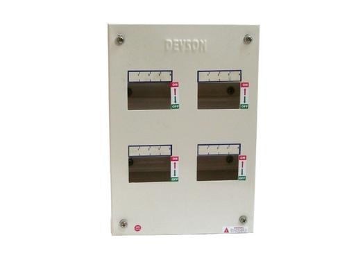 4 Way 3 Phase Single Door MCB Distribution Box