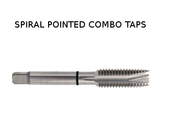 Spiral Pointed Combo Taps