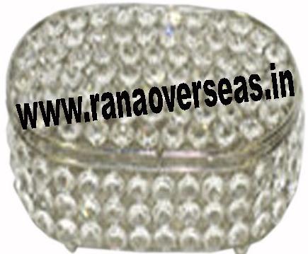 round crystal jewelery box