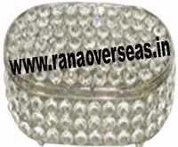 round crystal jewelery box