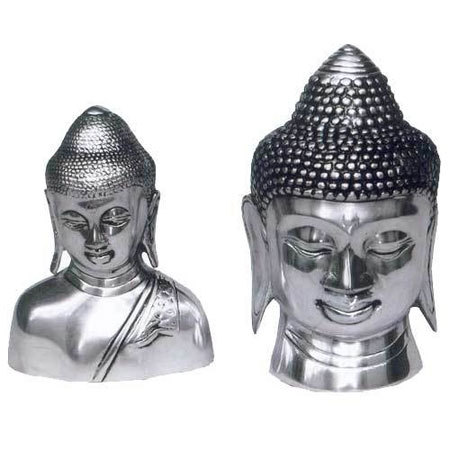Silver Plated Buddha Heads