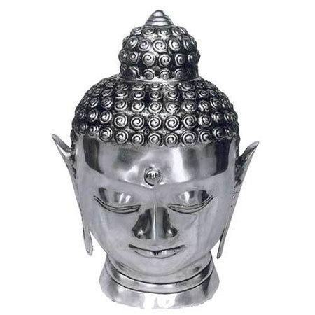 Calm Buddha Head Sculpture