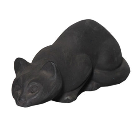 Cat Catching Prey Sculpture