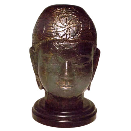 Antique Brass Buddha Head