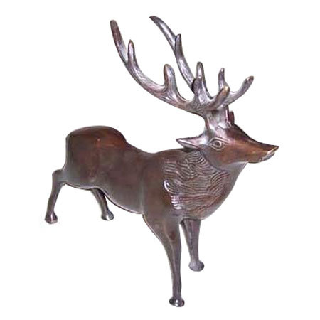 Brass Deer Sculpture