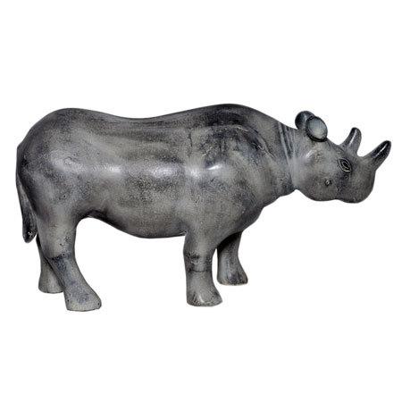 Aluminium Rhinoceros Statue