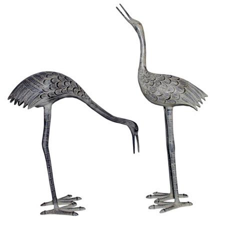 Aluminium Cranes Statuary