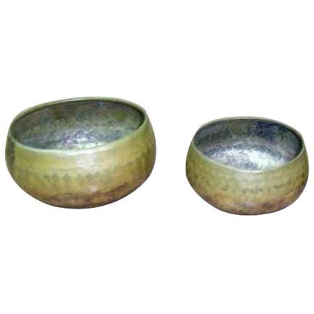 Brass Hammered Bowls