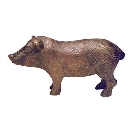 Brass Pig Sculpture