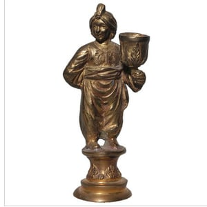 Brass Lady Candle Stand